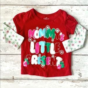 Girls 12m Christmas Shirt Mommy's Little Present